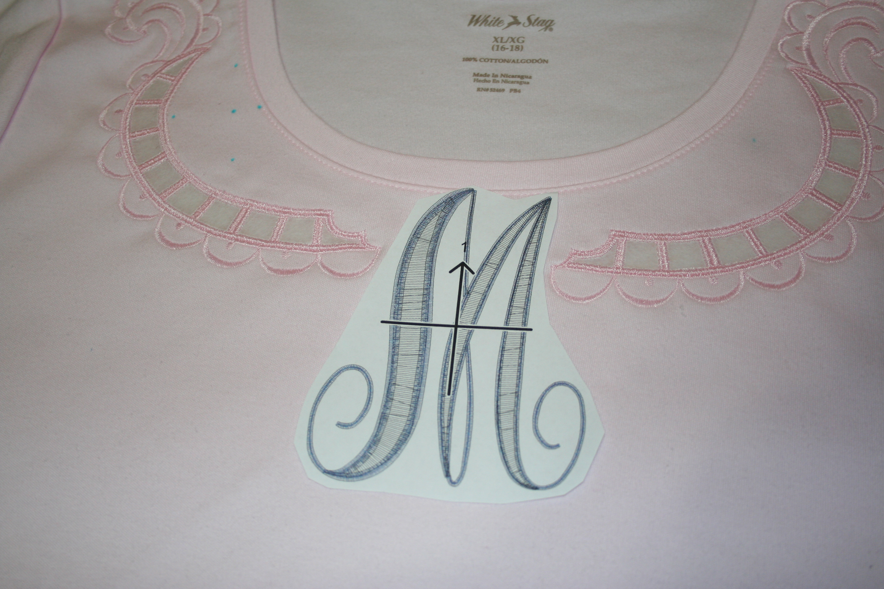 Cutwork t shirt tutorial for Embroidery placement on t shirts